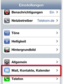 scr iphone einstellungen